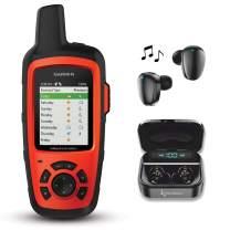 Garmin InReach Explorer+ Handheld Satellite Communicator with GPS Navigation, Maps, and Sensors 010-01735-10 and Wearable4U Black Earbuds Ultimate Charging Power Bank Case Bundle