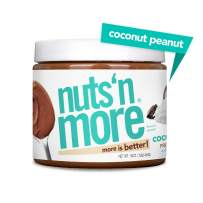 Nuts 'N More Coconut Peanut Butter Spread, All Natural High Protein Nut Butter Healthy Snack, Omega 3's and Antioxidants, Low Carb, Low Sugar, Gluten-Free, Non-GMO, Preservative Free, 16 oz Jar