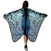 HITOP Butterfly Wings for Women, Butterfly Shawl Fairy Ladies Cape Nymph Pixie Costume Accessory