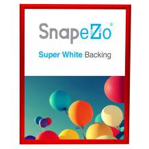 SnapeZo Poster Frame 18x24 Inches, Red 1 Inch Aluminum Profile, Front-Loading Snap Frame, Wall Mounting, Sleek Series