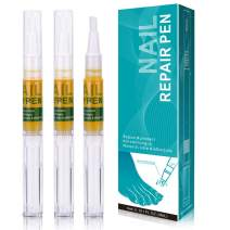 3pcs Nail Repair Pen, Nail Treatments, Repair & Strengthen Toenails and Fingernails, Repairs & Protects from Brittle and Cracked Nails