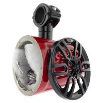 """DS18 NXL6TPR/NS Red 6.5 Inch Marine 6.5"""" Hydro Speaker Tower for All Elements (with Integrated RGB LED Lights)"""