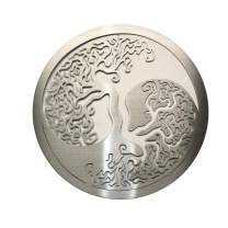 Metal Art of Wisconsin Ying Yang Tree of Life Wall Decor Hanging (2 Footer with Wood Backer)