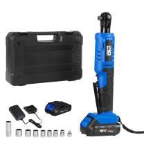 """3/8"""" Cordless Electric Ratchet Wrench, PROSTORMER 12V Power Ratchet tool kit, 2PCS 2000mAh Rechargeable Lithium-Ion Batteries and Fast Charger, 9PCS Sockets and Toolbox"""