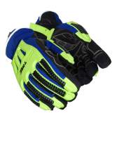 MAGID TRX614W Arctic Windstorm Series Impact Gloves | ANSI A2 Cut Resistant Winter Thermal Safety Work Gloves with Membrane, Blue/Green, Size 8/M (1 Pair)