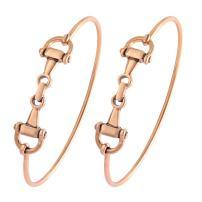 SENFAI Horse Snaffle Bit Hook Clasp Charm Bracelet Bangle Jewelry
