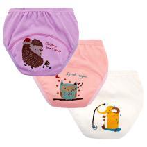 Set of 3 Toddler Girls Reusable Toilet Training Pants Cotton Nappy Underwear, Size 3 Years Girls