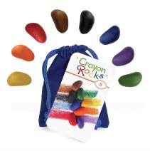 Crayon Rocks 8 Colors in a Blue Velvet Bag
