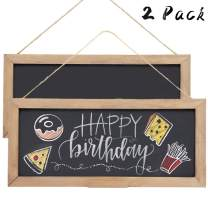 SAND MINE 2 Pack Vintage Framed Chalkboard Sign with Hanging String, Decorative Chalk Board, Decorative Farmhouse Chalkboard, Erasable Message Board, Hanging Chalkboard Sign