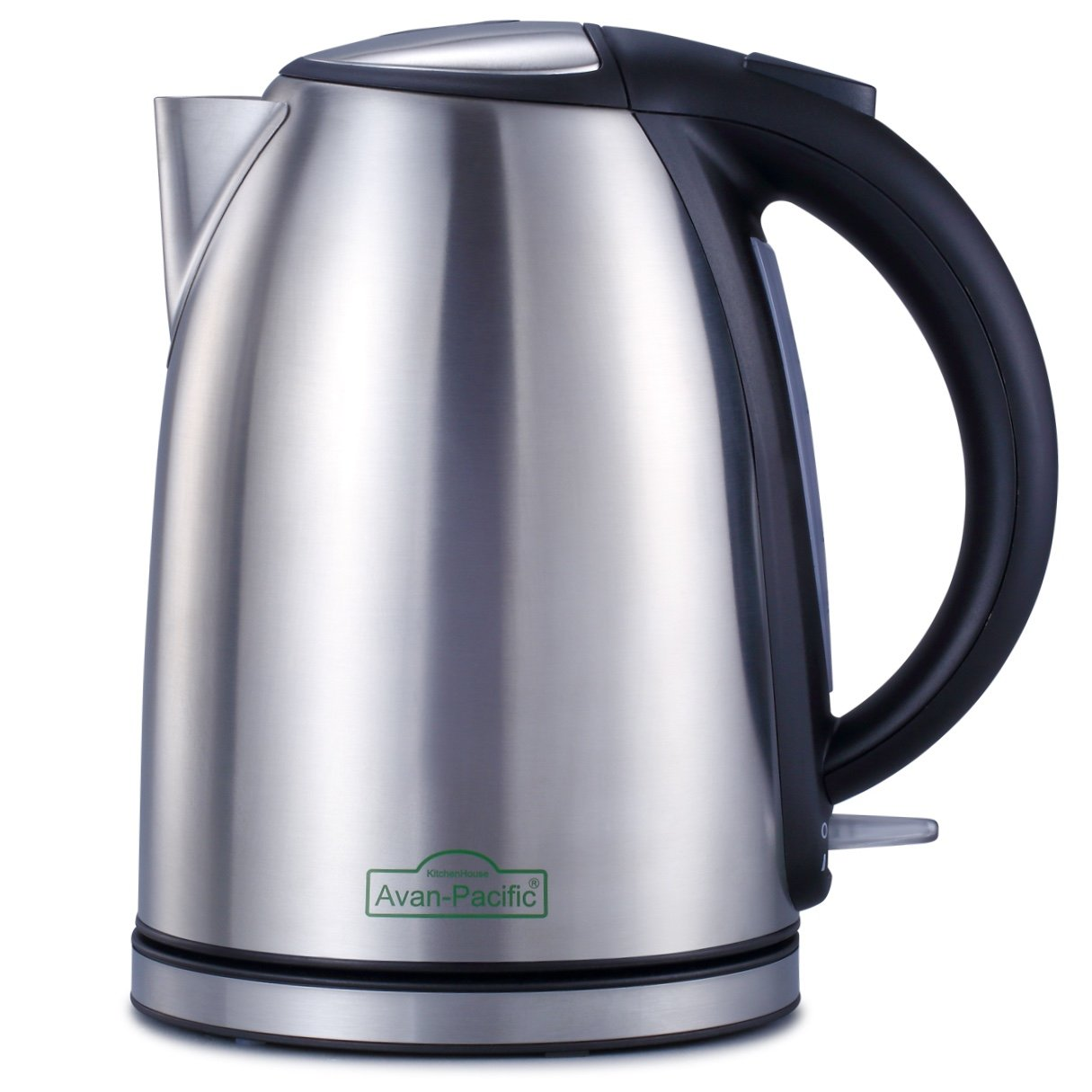 Avan-Pacific Stainless Steel 360°Cordless Electric Kettle 1.8L 1500W Auto Shut-Off, Boil Dry Protection ETL/FDA Approval