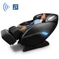 OOTORI Massage Chair, SL-Track 3D Robert Zero Gravity Thai Massage Chair with Space Saving,Full Body Air Massaging Chairs, Yoga Stretching, Bluetooth Speaker, Heat&Foot Roller (Black)