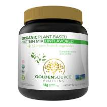 GoldenSource Proteins Organic Plant-Based Protein, Unflavored, 1 Pound