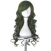 Miss U Hair Synthetic Women Cute Green Long Curly Party Cosplay Costume Wig Halloween