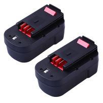 GERIT BATT 3.6Ah Replace Black Decker 18V Battery HPB18 HPB18-OPE 244760-00 FS18FL FSB18 Firestorm Power Tool 2-Pack