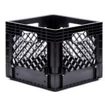Jezero Multi-Purpose Milk Crate, Square 13-Inch x 13-Inch x 11-Inch, Black