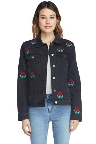 VELVET HEART 'Phyllis' - Women's Classic Denim Jacket. Casual, Distressed Look, Button Down, 100% Cotton