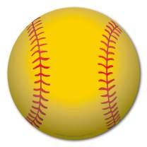 Softball Magnet