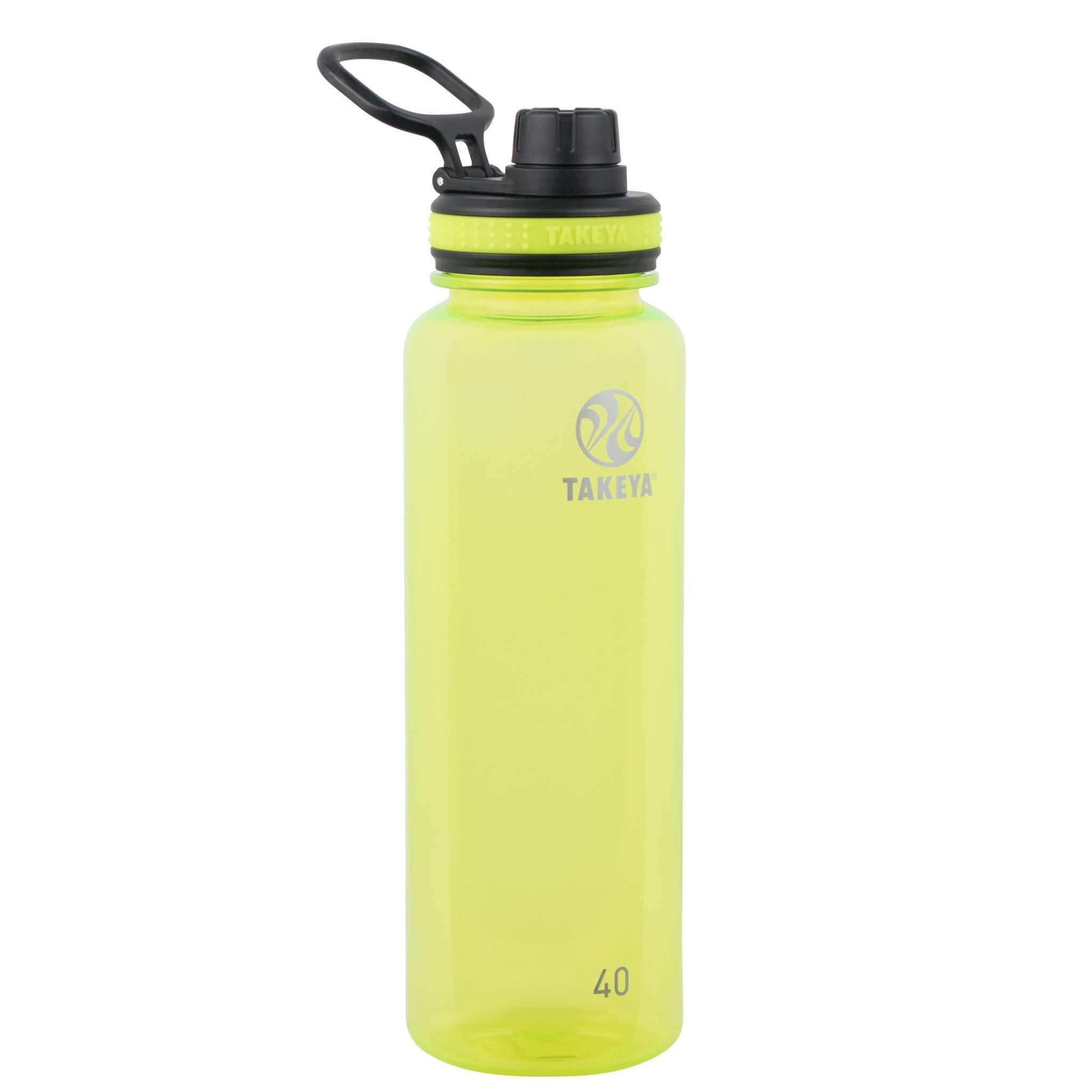 Takeya Tritan Sports Water Bottle with Spout Lid, 40 oz, Wild Lime