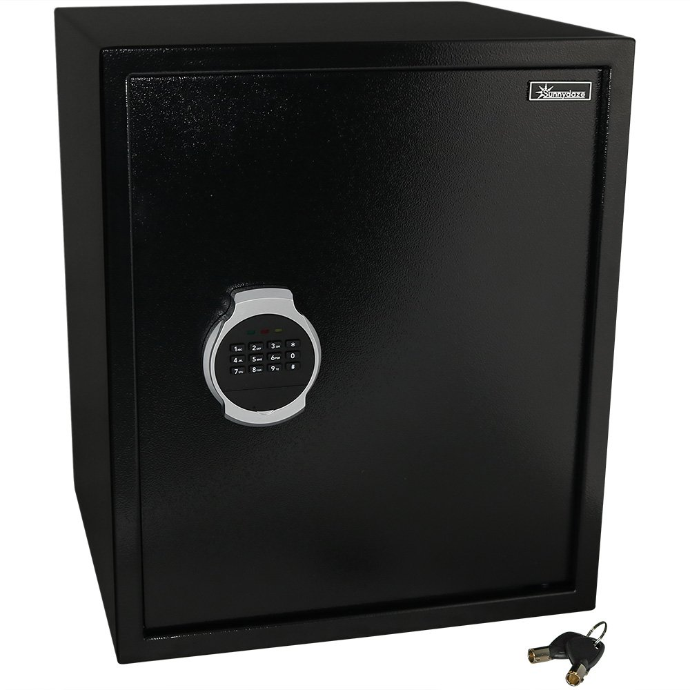 Sunnydaze Digital Security Safe Lock Box with Bolt-Down Hardware and Programmable Lock - for Home, Business, or Travel, 2.26 Cubic Feet