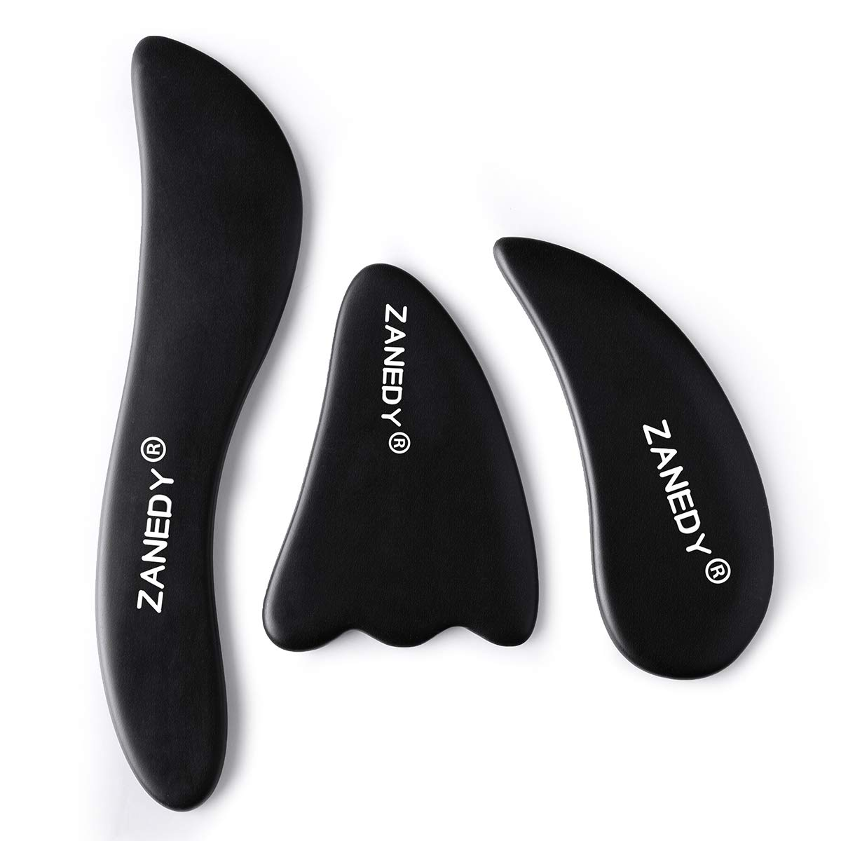 Gua sha Scraping Tools Trigger Point Massager Ultra Smooth Edge Face and Body Physical Therapy Tool for Reduce Muscle Pain,Massage Tendon,Myofascial Releaser and ASTYM, IASTM(3 Set)