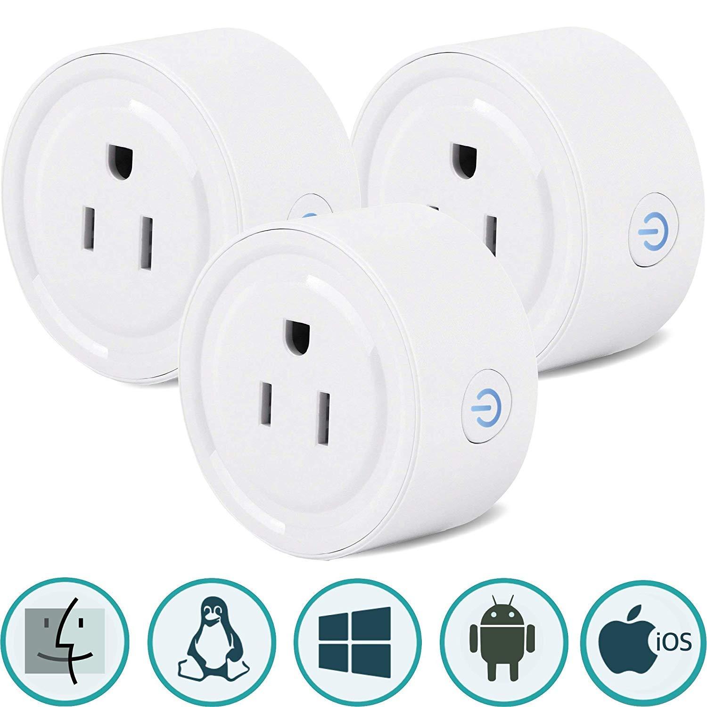Sintron ST-027 Smart Plug Socket - (3 pcs) Works with iPhone Siri Amazon Alexa Google Home Google Assistant, No Hub Required, Energy Saving A+++, Smart Phone/PC/Mac/Linux/Windows/iOS/Android