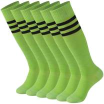 Striped Tube Socks, Calbom Unisex Knee High Soccer Football Volleyball Baseball Cheerleading Team Socks 2/6/10 Pairs