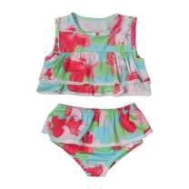 bilison Toddler Baby Girl Swimwear Cute Straps Bikini Set Hearts Print Swimsuit Beachwear Outfits