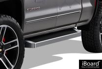 APS iBoard Compatible with Chevy Silverado GMC Sierra 2007-2018 Double Cab Extended Cab & 2019 2500 HD (Exclude 07 Classic)(Include 19 1500 LD) (Nerf Bars Side Steps Side Bars) Running Boards