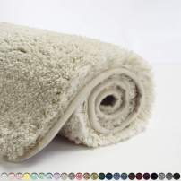 Suchtale Bath Rug for Bathroom Non Slip Bathroom Mat (20 x 32, Light Tan) Water Absorbent Soft Microfiber Shaggy Bathroom Rug Machine Washable Bath Mat for Bathroom Thick Plush Shower Mat