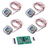 4pcs 50kg Load Cell Half-Bridge Human Body Scale Weight Weighing Sensor + 1pc HX711 Amplifier AD Module for Arduino