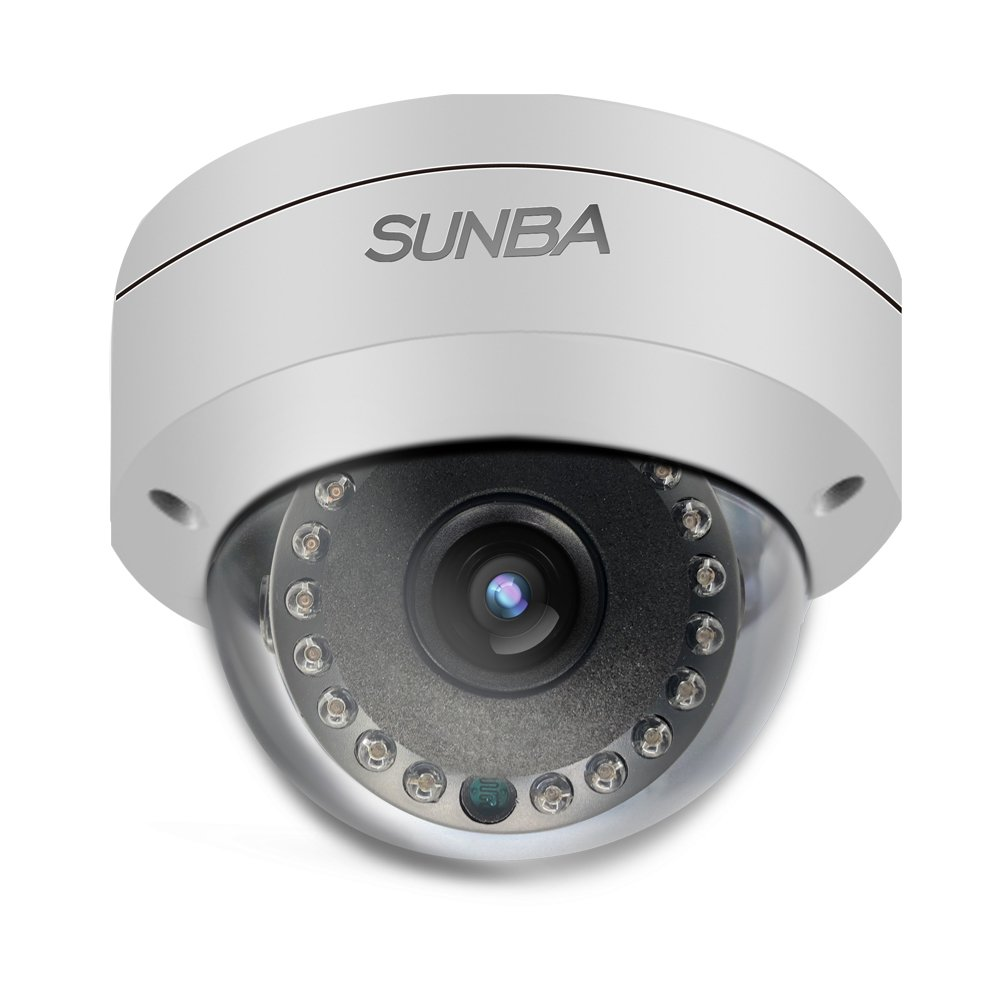 Sunba PoE 2MP 1080P H.265 3.6mm Night Vision 65ft Outdoor Fixed Dome IP Network Camera (FT-HD)