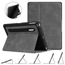 Fintie Case for iPad 9.7 2018 2017 / iPad Air 2 / iPad Air - [Corner Protection] Multi-Angle Viewing Rugged Soft TPU Back Cover with [Secure Pencil Holder] Auto Sleep/Wake, Gray