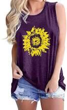 CALOER Women Casual Tank Top Summer Graphic Cami Vest Sleeveless Workout Shirt Basic Tees