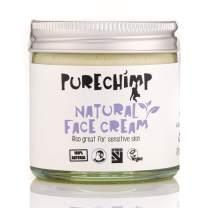 Natural Face Cream 2.1oz (60m) l by PureChimp - Recyclable Glass + Aluminium Lid - Jojoba & Sea Buckthorn - Vegan - Alcohol & Palm Oil Free For Sensitive Skin