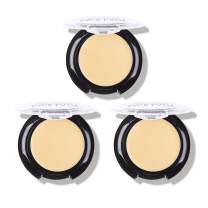 3 Pack Full Coverage Concealer Cream Makeup, Waterproof Matte Smooth Concealer Corrector for Dark Spot Under Eye Circles, 18g/0.6Oz (#20 Highlight)