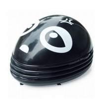 E ECSEM Cute Portable Beetle Ladybug Cartoon Mini Desktop Vacuum Desk Dust Cleaner (Black)
