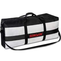 79L Large Travel Duffel Bag,Foldable Luggage Weekend Bag With Adjustable Strap For Men Women.