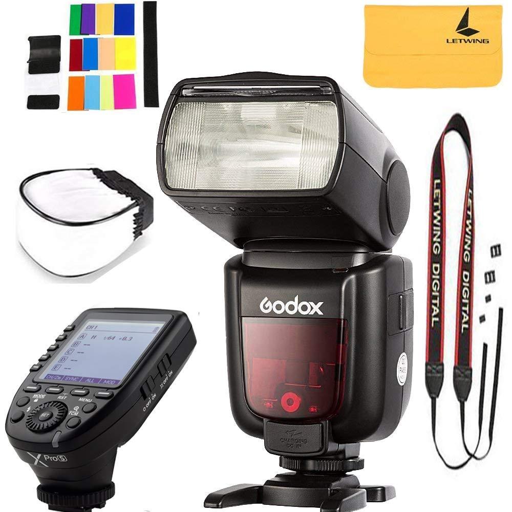 Godox TT685S TTL Camera Flash High Speed 1/8000s GN60 Compatibe for Sony Cameras,Godox XPro-S 2.4G Wireless Flash Trigger Wireless X System High-Speed Compatible for Sony