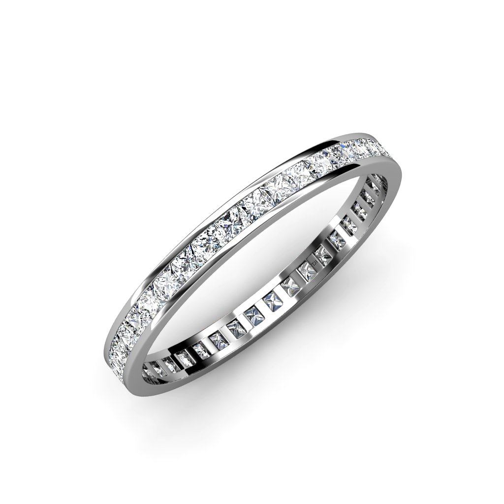 TriJewels Diamond Princess Cut Eternity Band (SI2-I1, H-I) 1.54 ct tw to 1.82 ct tw in 14K Gold
