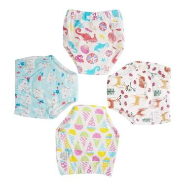 Cotton Training Pants Toddler Potty Training Underwear for Boys and Girls Washable and Reusable-2T-Boys