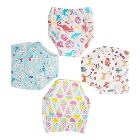 Pack VOLUOVO Cotton Training Pants Toddler Baby Potty Training Underwear for Boys and Girls 4