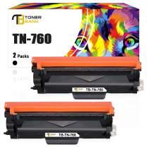 Toner Bank Compatible Toner Cartridge Replacement for Brother TN760 TN-760 TN730 TN-730 for MFC-L2710DW HL-L2350DW HL-L2390DW DCP-L2550DW MFC-L2750DW HL-L2395DW HL-L2370DW Printer Ink (Black, 2-Pack)