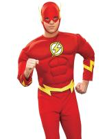 Rubie's Men's Dc Heroes and Villains Collection Deluxe Muscle Chest Flash Costume
