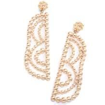 Golden/Silver Raised Design Statement Drop Earrings Geometric Dangle Earrings for Women Girls