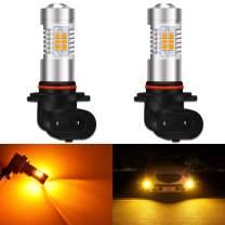 KATUR 9005 HB3 LED Fog Light Bulbs Max 80W High Power Super Bright 2000 Lumens 3000K Amber with Projector for Driving Daytime Running Lights DRL or Fog Lights,12V -24V (Pack of 2)