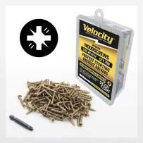 "Wood Screw - Velocity Interior Stick-Tight Wood Screw #8 x 1-1/8"" 150 Piece, Includes PSD ACR No-Wobble Driver Bit"