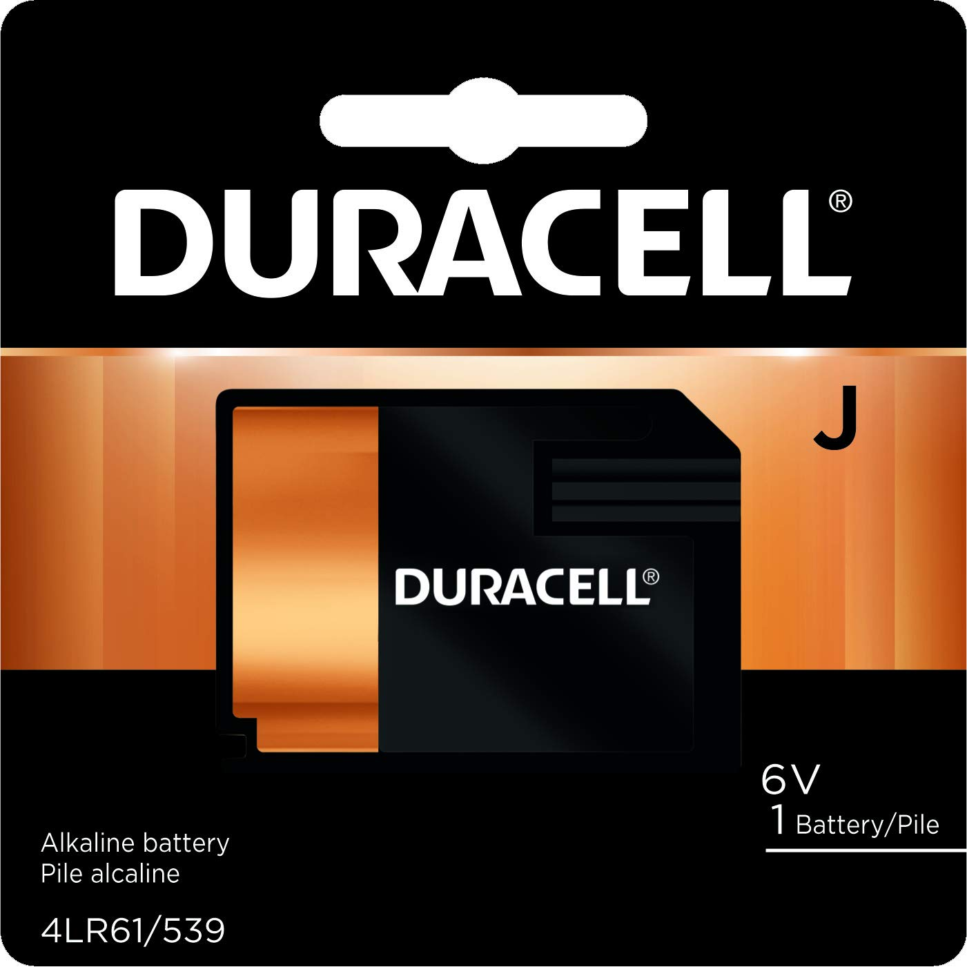 Duracell - J 6V Specialty Alkaline Battery - long-lasting battery - 1 Count
