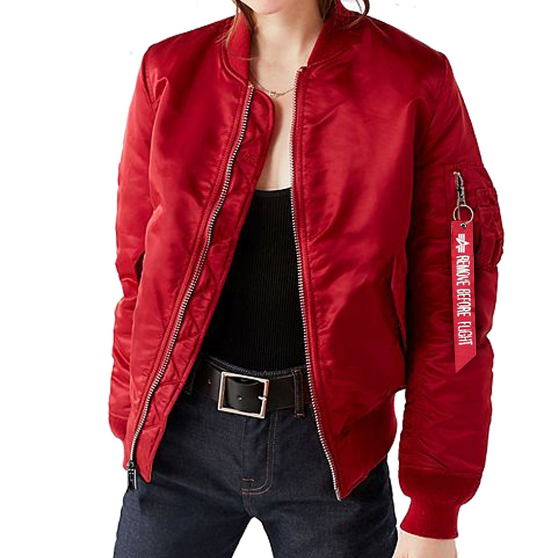 GWELL Men's Casual Bomber Jacket Military Windbreaker Outdoor Air Force Coat Slim Fit Spring Autumn