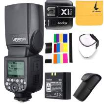 Godox V860II-C 2.4G Wireless E-TTL II Li-on Camera Flash Speedlite Compatible for Canon 6D 50D 60D 1DX 580EX II 5D Mark II III+Godox X1T-C TTL Wireless Trigger Compatible for Canon EOS Series Cameras