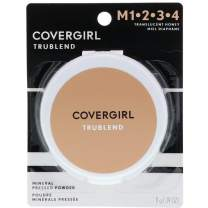 CoverGirl TruBlend Mineral Pressed Powder, Translucent Honey 0.39 oz (Pack of 2)